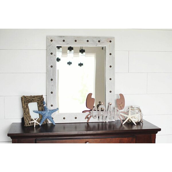 Flippen Rustic Bunkhouse Reclaimed Wood Overmantel Mirror by Millwood Pines
