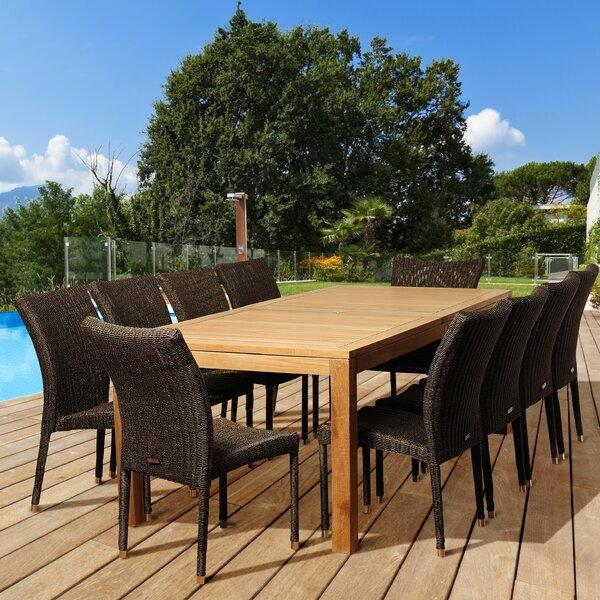 Elsmere 11 Piece Teak Dining Set by Beachcrest Home