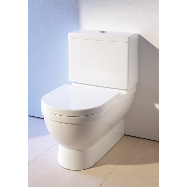 Starck 1.28 GPF (Water Efficient) Elongated Two-Piece Toilet (Seat Not Included) by Duravit