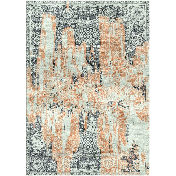 Aliza Handloom Sage/Rust Area Rug by Bungalow Rose