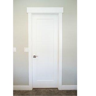 Primed Shaker 1 Panel Solid Manufactured Wood Panelled Mdf Slab Interior Door