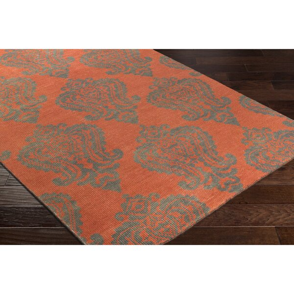 Riverview Hand-Knotted Blue/Green Area Rug by Red Barrel Studio