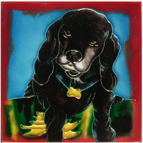 Dog 3 Tile Wall Decor by Continental Art Center