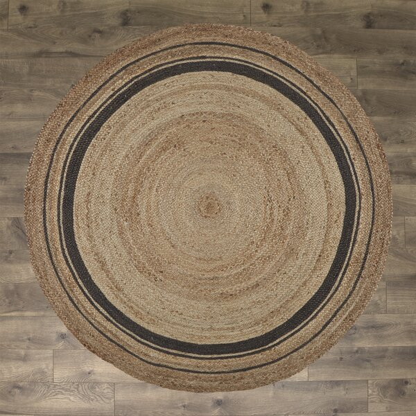 Cheryl Mist Hand-Braided Tan/Gold/Gray Area Rug by Laurel Foundry Modern Farmhouse