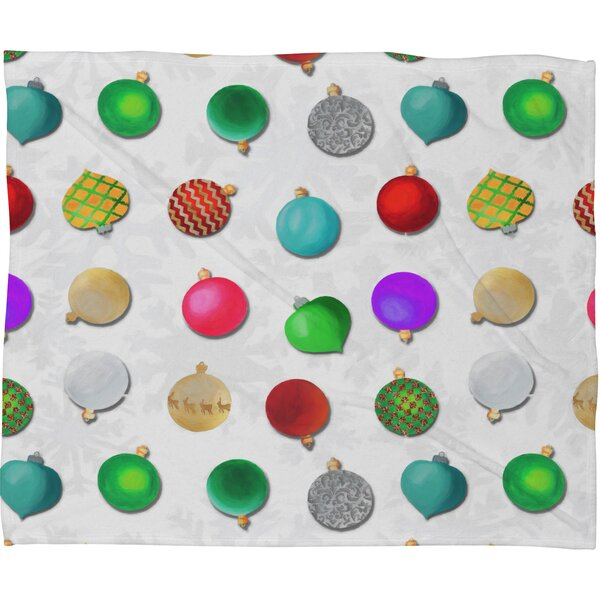 Madart Inc Multi Ornaments Design Plush Fleece Throw Blanket by Deny Designs