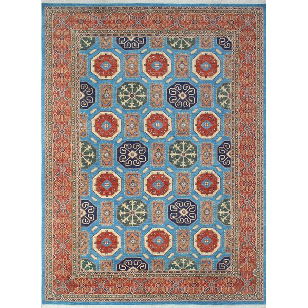 One-of-a-Kind Woodmoor Bahara Hand-Knotted Wool Blue Area Rug by Loon Peak