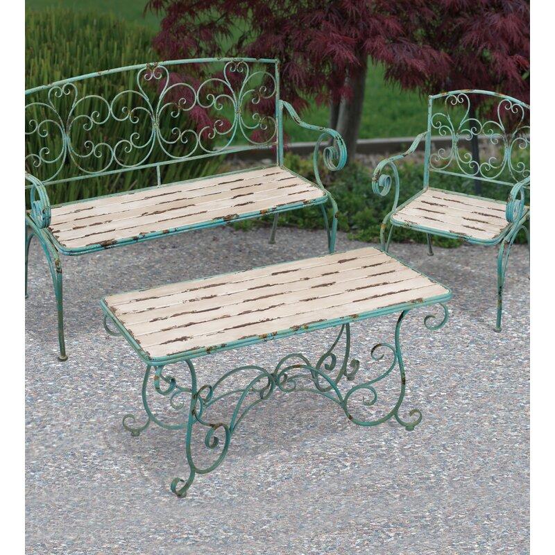 Fleur De Lis Wrought Iron Garden Bench