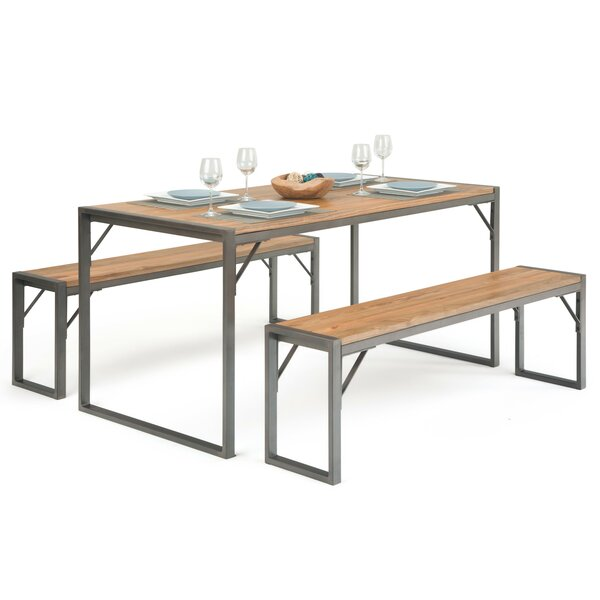 Keyes 3 Piece Dining Set by Williston Forge Williston Forge
