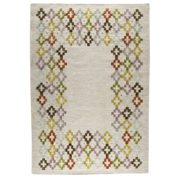 Khema 3 Hand-Woven Green/Purple/Brown Area Rug by M.A. Trading