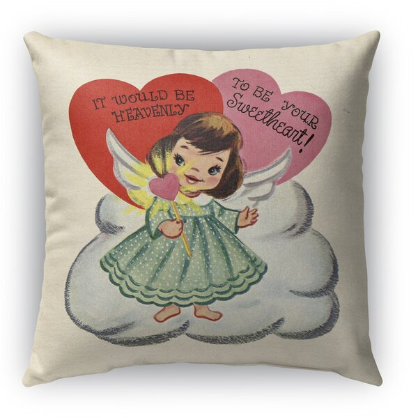 To Be Your Sweet Heart Burlap Indoor/Outdoor Throw Pillow by KAVKA DESIGNS