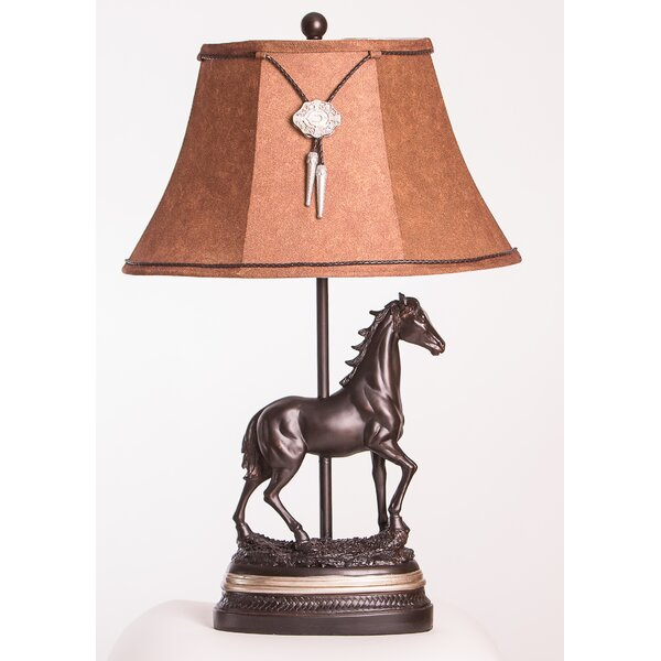Justus Horse 28 Table Lamp by Millwood Pines