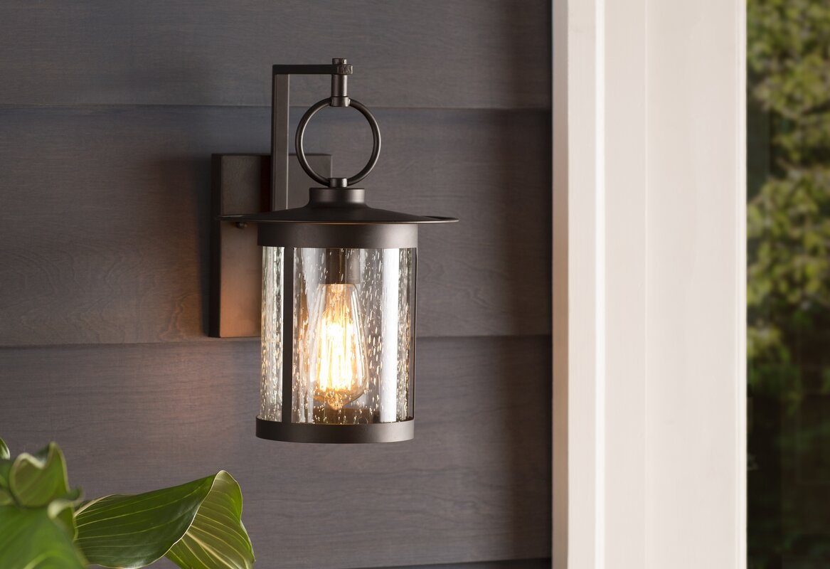 Gracie Oaks Lavardens 1-Light Outdoor Wall Lantern & Reviews