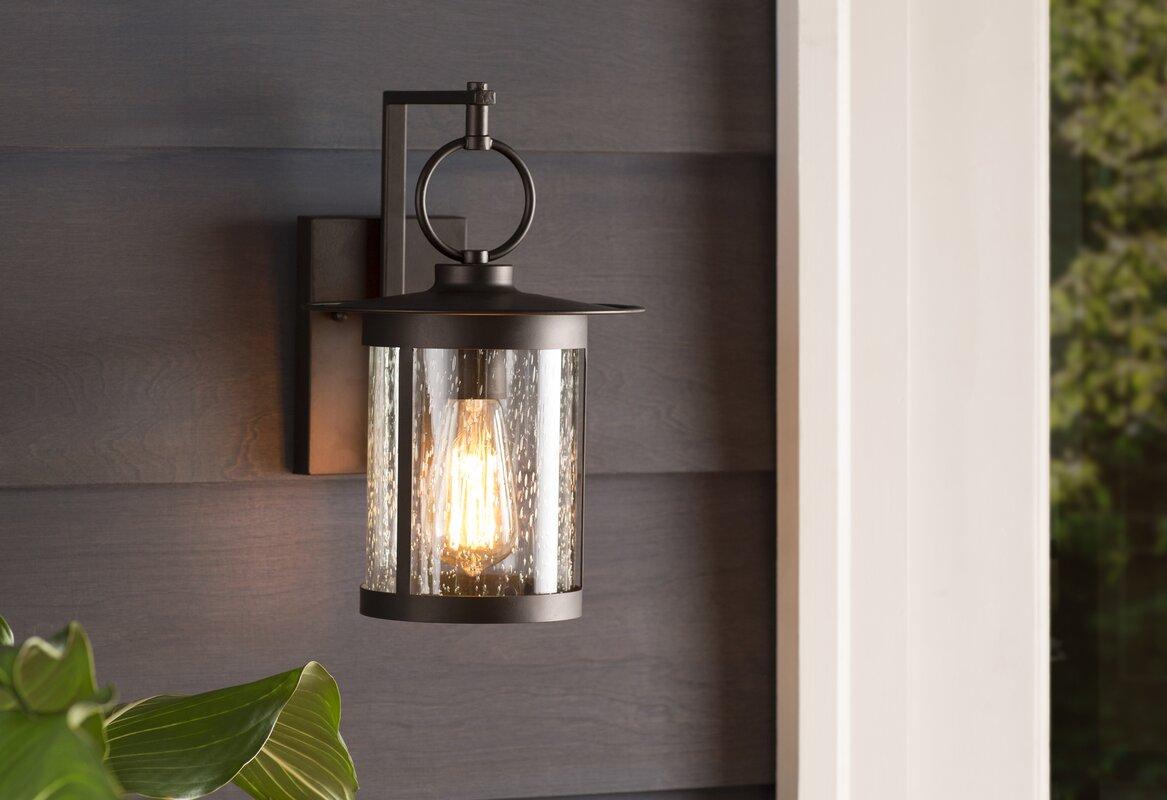 Gracie Oaks Lavardens 1 Light Outdoor Wall Lantern