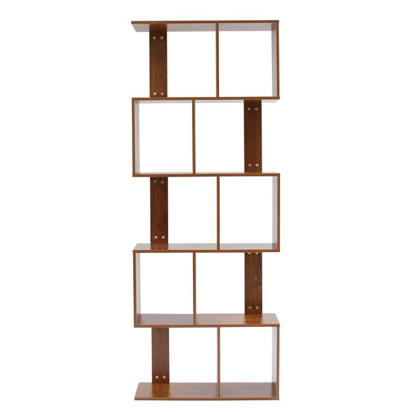 Sariah 5 Tier Shelves Display Bookcase Desk Organizer Storage Wood Closet Multi-Units Deluxe Free Stand Racks Home Office By Ebern Designs