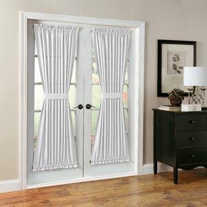 Montego Solid Rod Pocket Single Curtain Panel