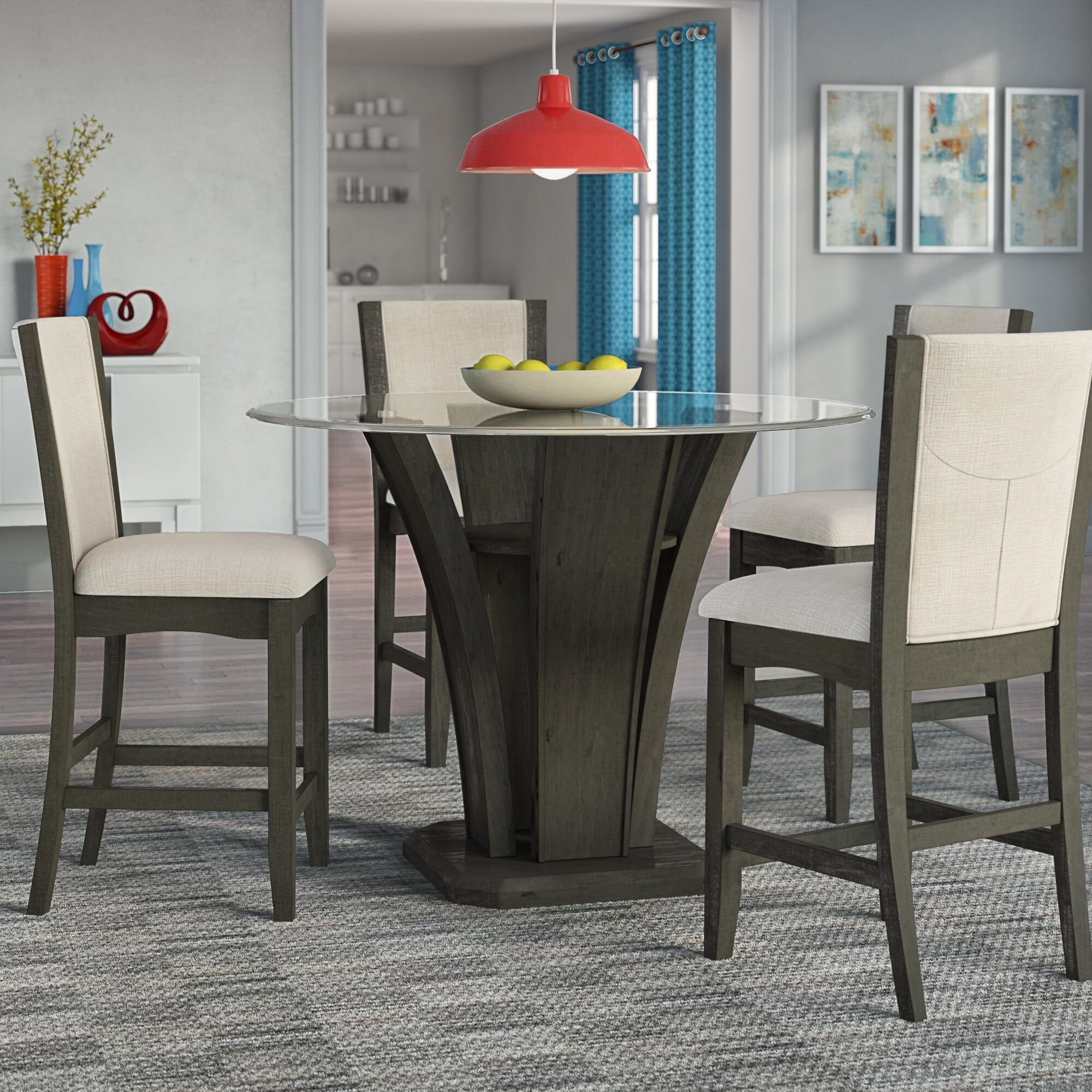 Fantastic Marnie 5 Piece Round Counter Height Dining Set Gmtry Best Dining Table And Chair Ideas Images Gmtryco
