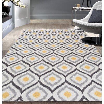 Wrought Studio Walmsley Moroccan Gray/Yellow Area Rug by Wrought Studio
