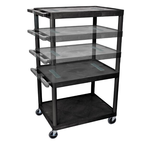 Endura Multi-Height 5 Shelf AV Cart by Offex