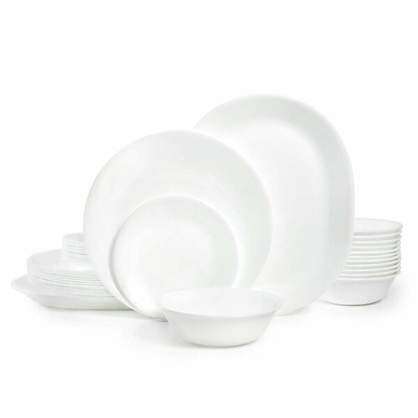 Livingware Winter Frost 38 Piece Dinner Set, Service for 12 by Corelle