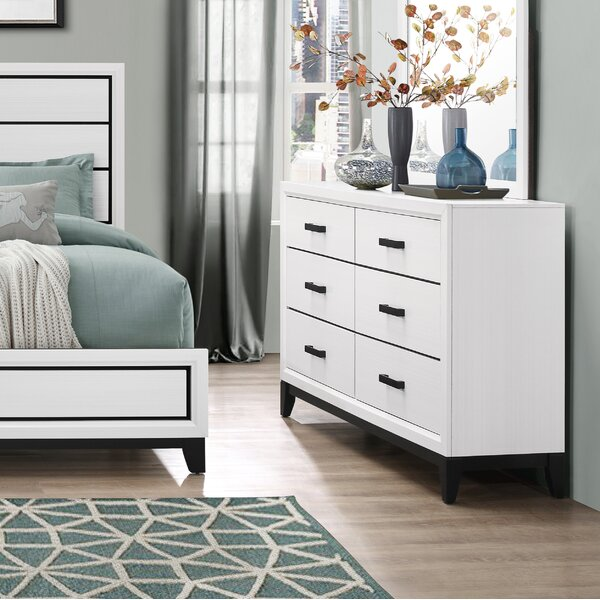 Jerold 6 Drawer Double Dresser by Williston Forge