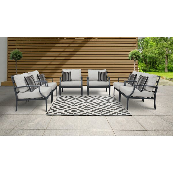Benner Patio Chair with Cushions (Set of 6) by Ivy Bronx