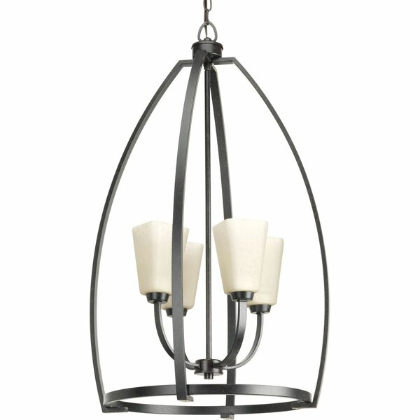 Suzanna 4 - Light Unique / Statement Geometric Chandelier With Crystal Accents By Gracie Oaks