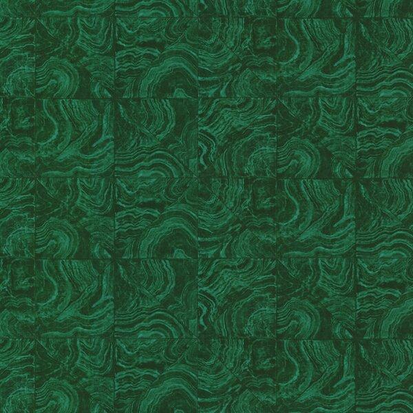 Brewster Home Fashions Horizon Malachite Stone Tile 27 X Abstract Wallpaper Wayfair Ca