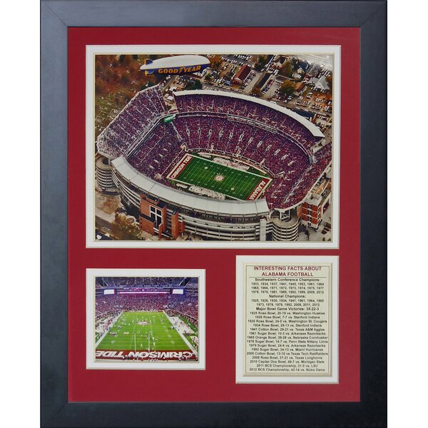 University of Alabama Bryant-Denny Stadium Framed Memorabilia by Legends Never Die