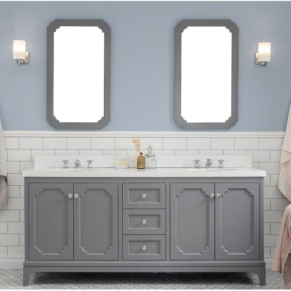 Kylan 72 Double Bathroom Vanity Set with Mirror