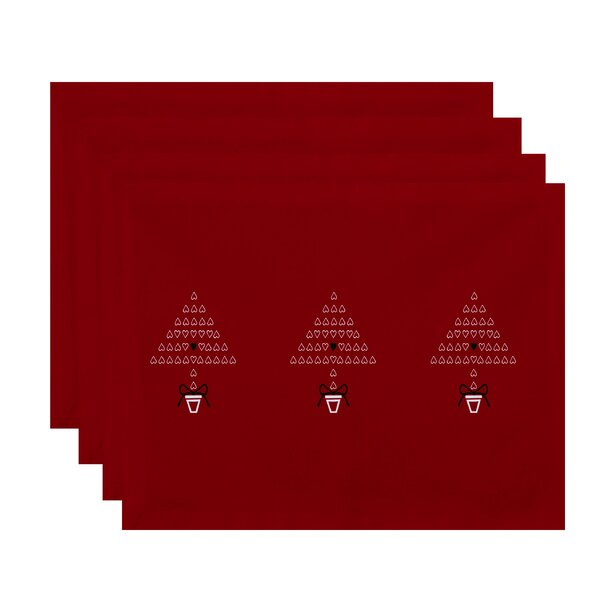 Hearty Holidays Print Placemat (Set of 4) by The Holiday Aisle