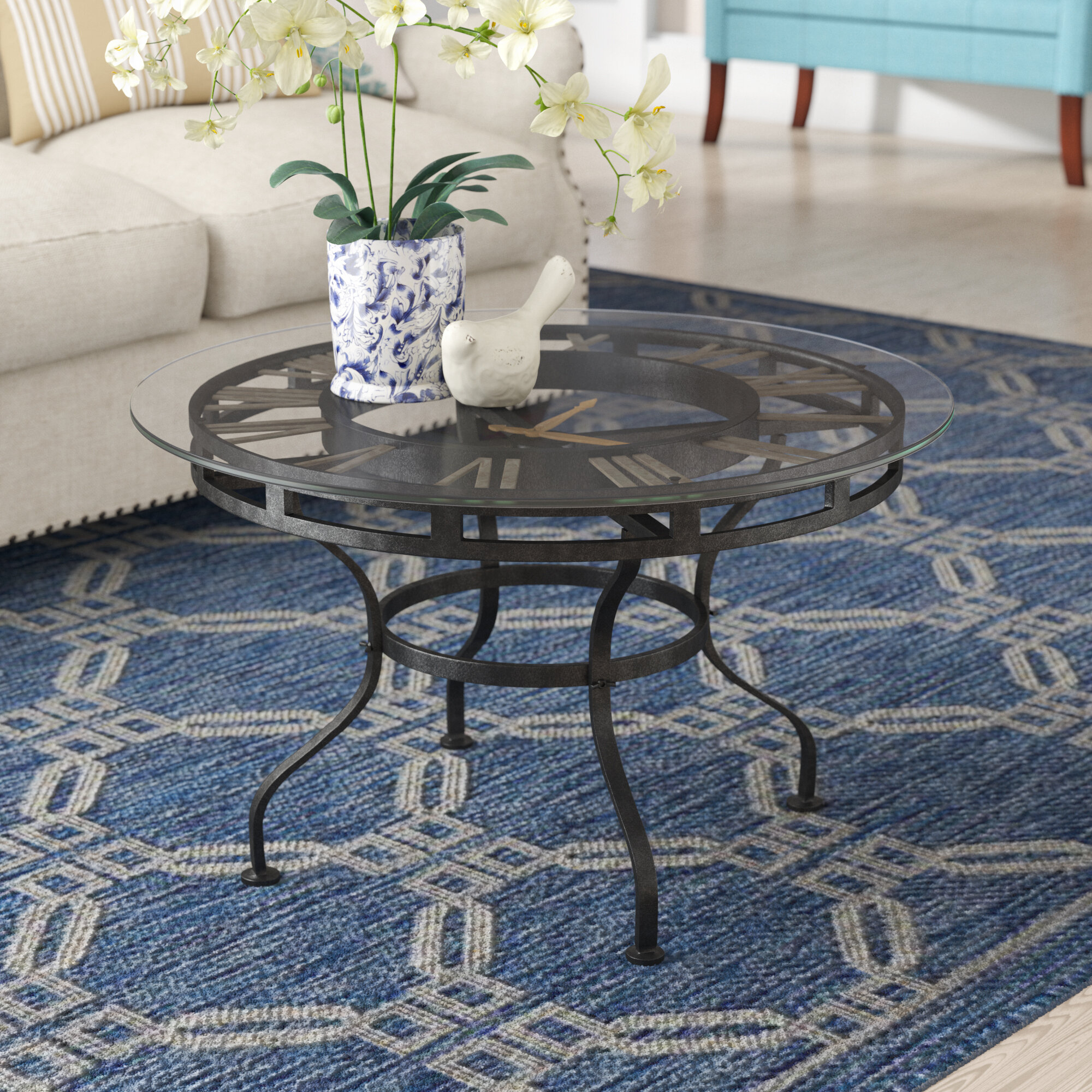 - Charlton Home Trigg Trestle Coffee Table With Clock & Reviews