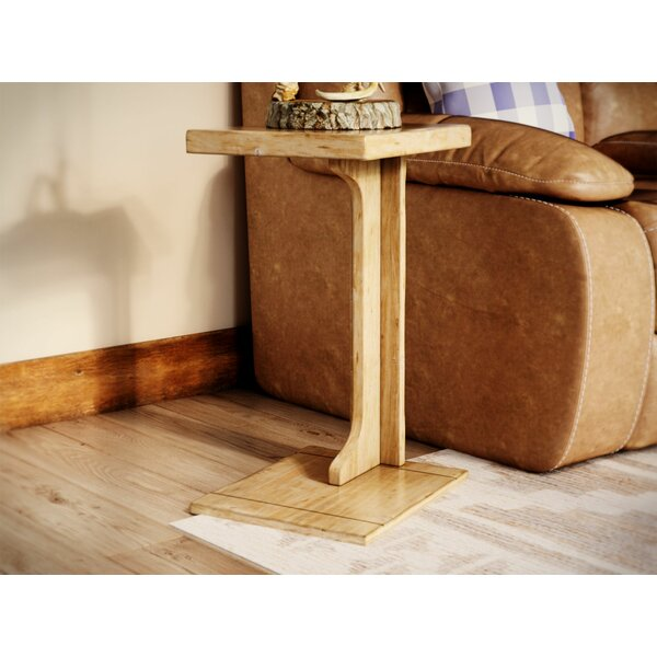 Low Price Bark Ranch End Table