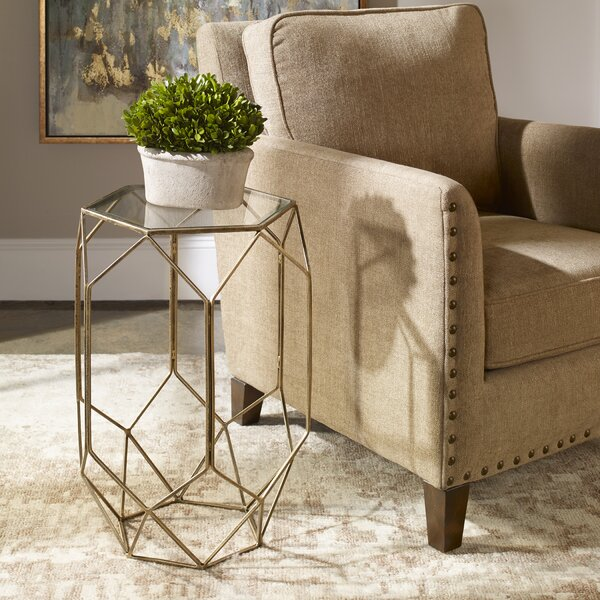 Uinta Contemporary End Table By Ivy Bronx