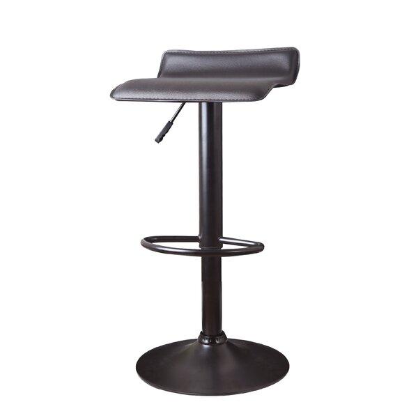 Decker Adjustable Height Swivel Bar Stool (Set of 2) by Wade Logan