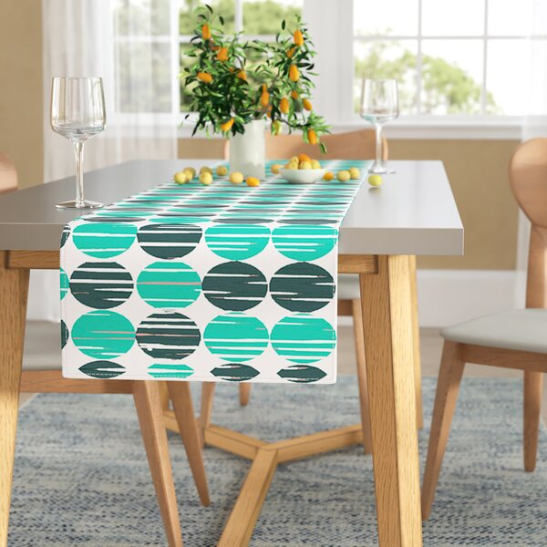 Michelle Drew Distressed Circles Table Runner by East Urban Home