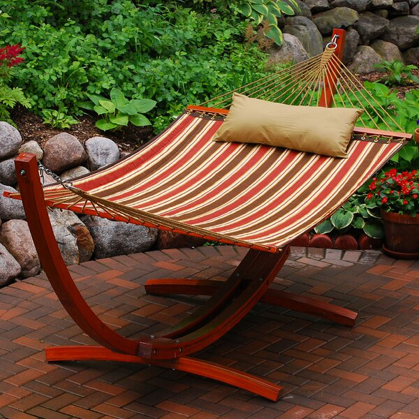 Toulon Polyester Hammock with Stand by Three Posts