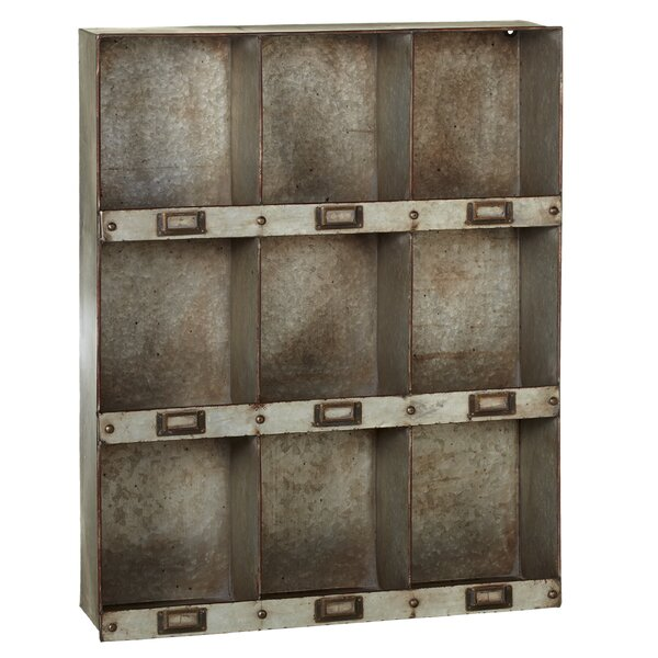 Elsworth Wall 9 Pocket Galvanized Cube Unit Bookcase by Gracie Oaks
