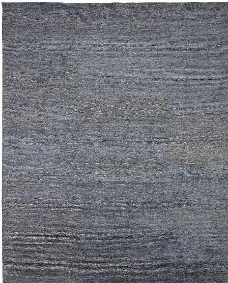 Horizon Hand-Knotted Blue/Gray Area Rug by Shalom Brothers