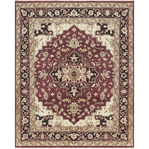 One-of-a-Kind Templetion Hand-Knotted Wool Red/Blue Area Rug by Bokara Rug Co., Inc.