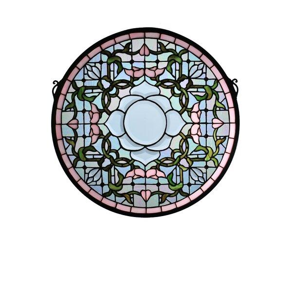 Tulip Bevel Medallion Stained Glass Window by Meyda Tiffany
