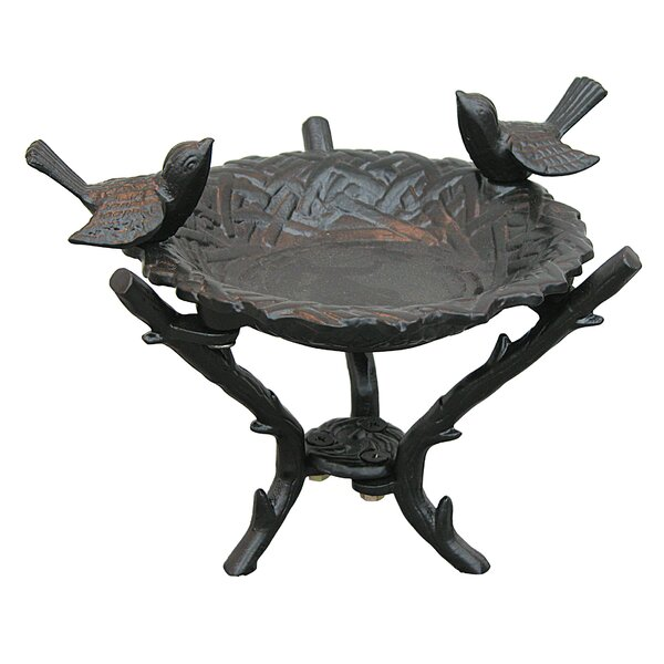 New Bird Nest Tabletop Birdbath by Innova Hearth and Home