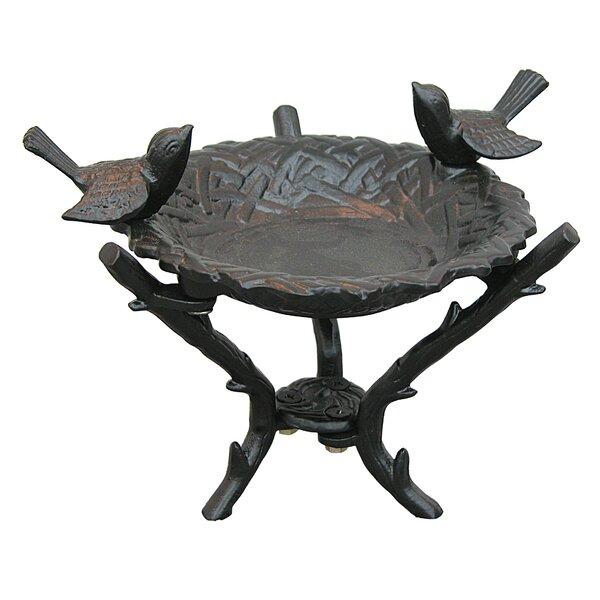 New Bird Nest Tabletop Birdbath by Innova Hearth and Home