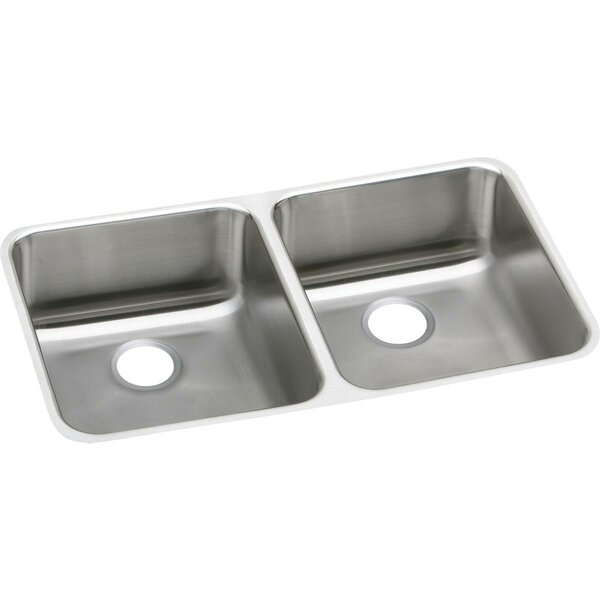 Lustertone 31 L x 19 W Double Basin Undermount Kitchen Sink