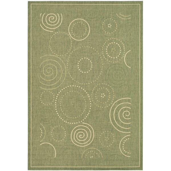 Mullen Olive Indoor/Outdoor Area Rug by Ebern Designs