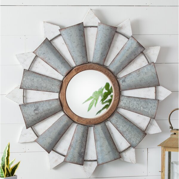 Jebediah Windmill Wall Mirror by Gracie Oaks