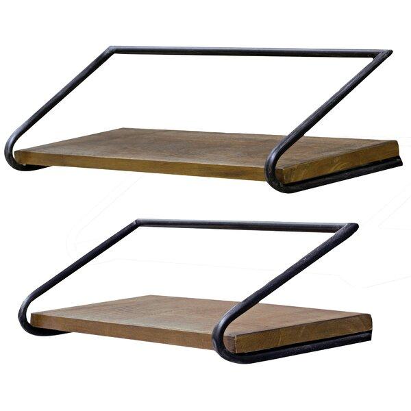 Blosser Loft 2 Piece Wall Shelf Set by Foundry Select