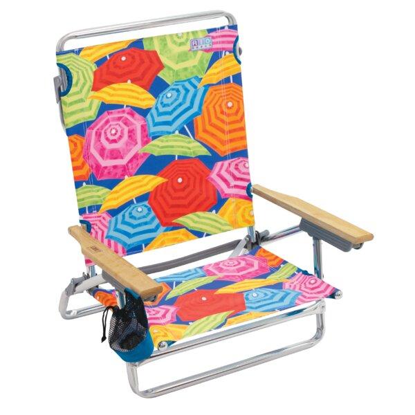 Reclining/Folding Beach Chair by Rio Brands Rio Brands