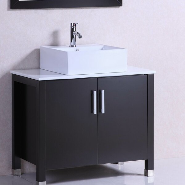 Modern Freestanding 36 Single Bathroom Vanity Set by Belvedere Bath