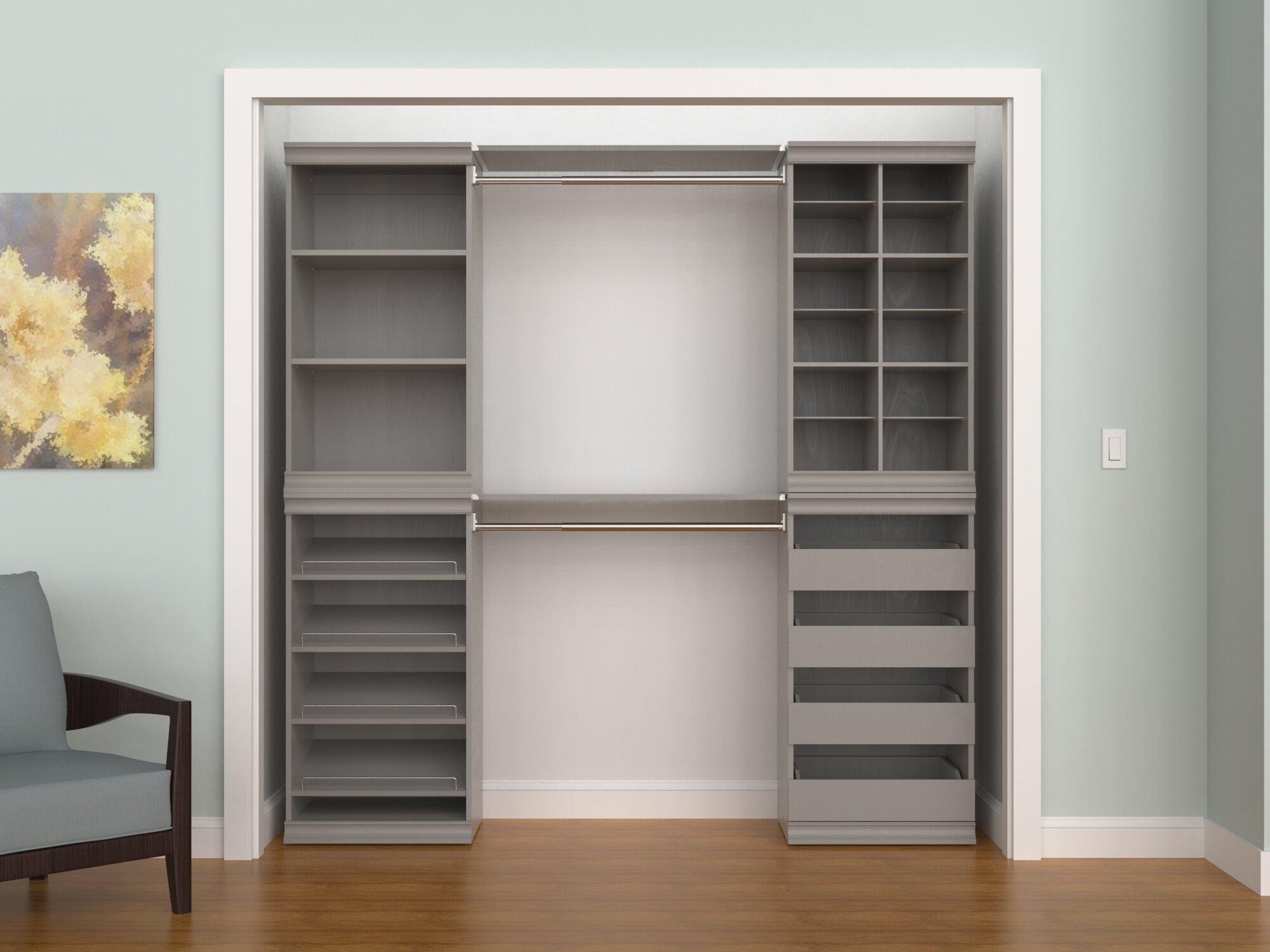 Modular Storage 68 76 W 90 76 W Closet System