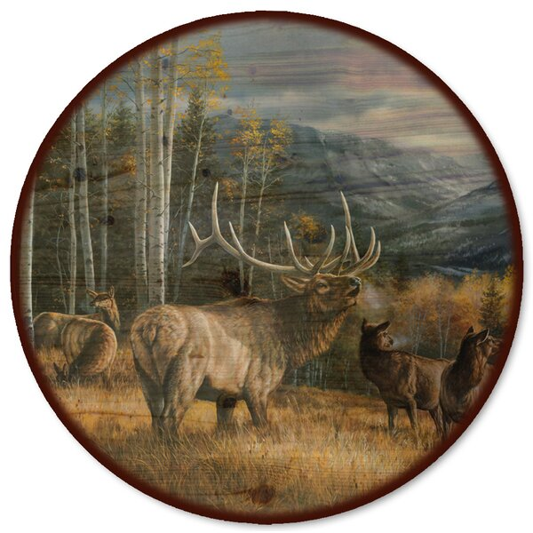 Meadow Music Elk Lazy Susan by WGI-GALLERY